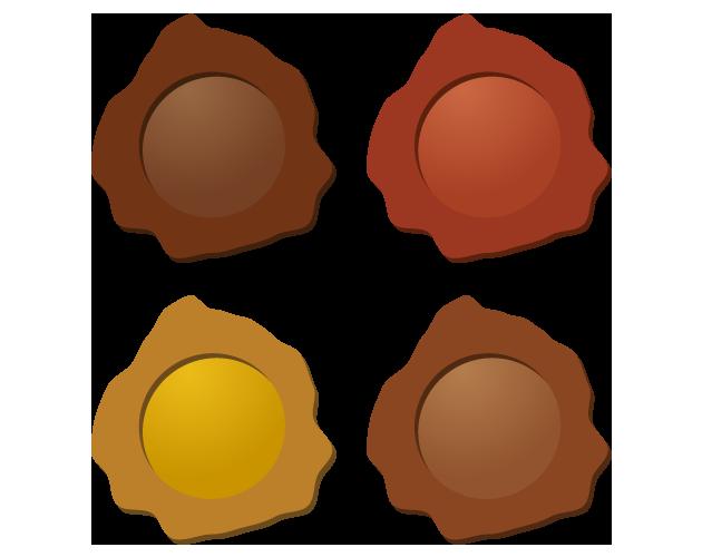 ポップな木のアイコンのフリー素材
