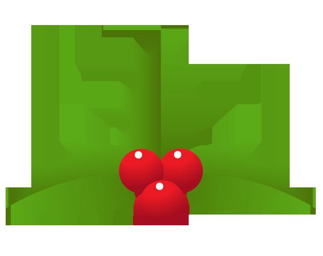 シンプルなクリスマス飾りのイラスト(フリー素材)