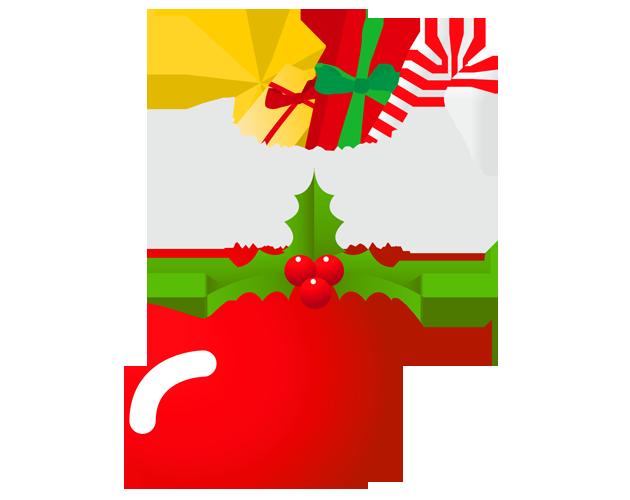 お菓子が入ったクリスマスブーツのイラスト(フリー素材)