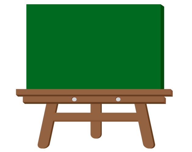 学校の授業で使う黒板のイラスト(フリー素材)