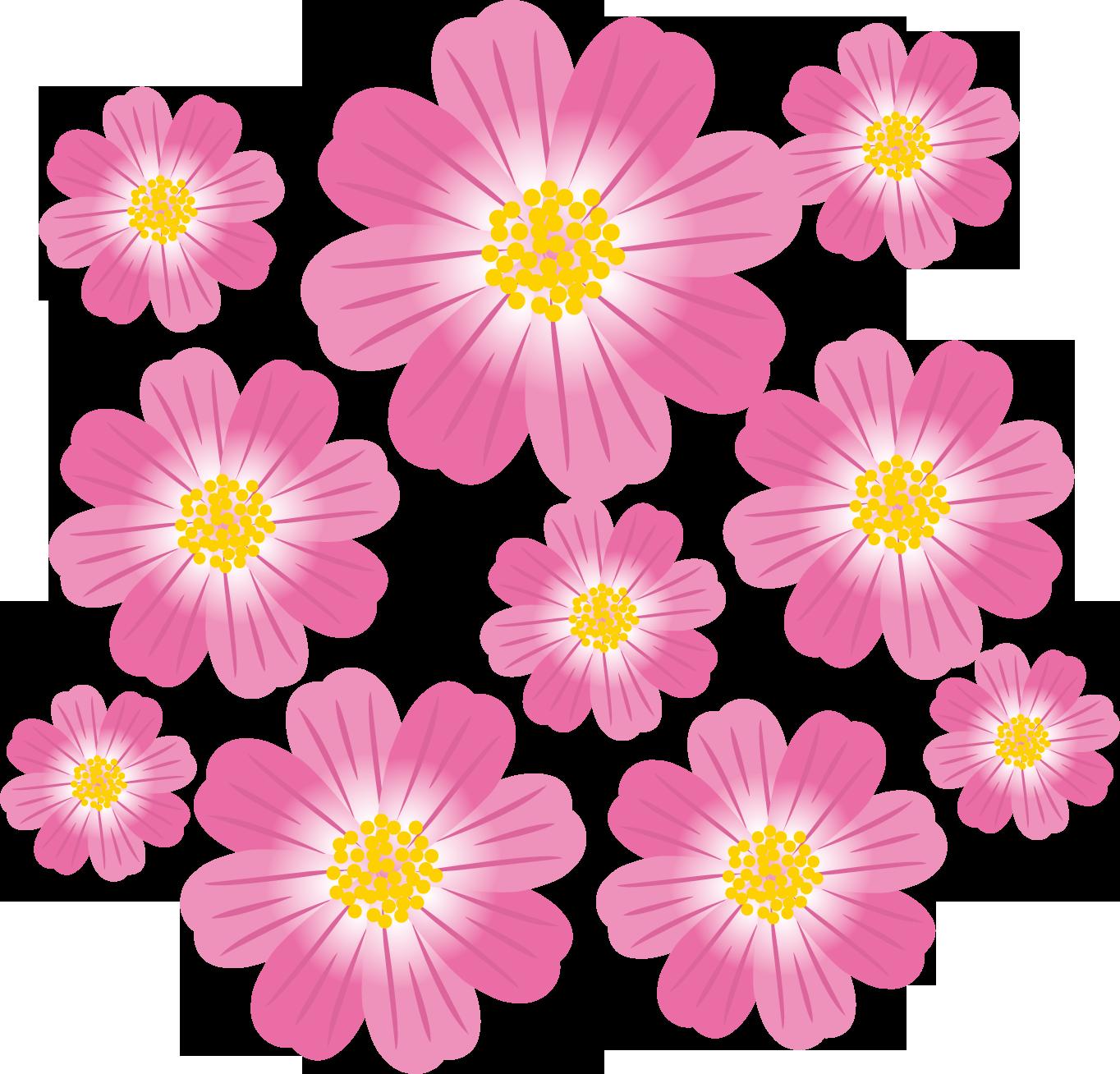 花のイラスト・フリー素材|ダウンロード02【素材っち】
