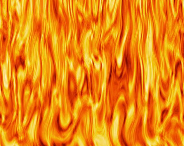 激しく燃えさかる炎(フリー画像)