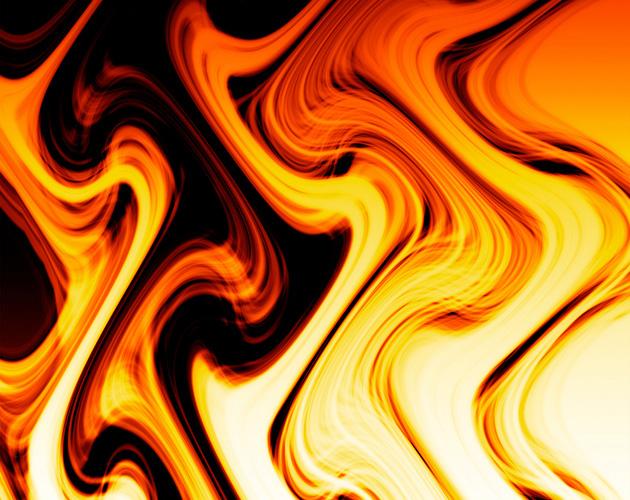 激しくゆらめく炎(フリー画像)