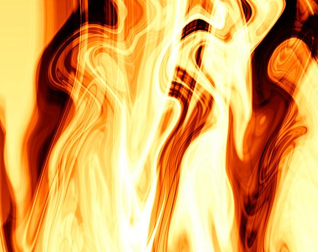 ゆらめく炎(フリー画像)