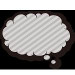 モコモコ系の吹き出しのイラスト(無料ダウンロード28)