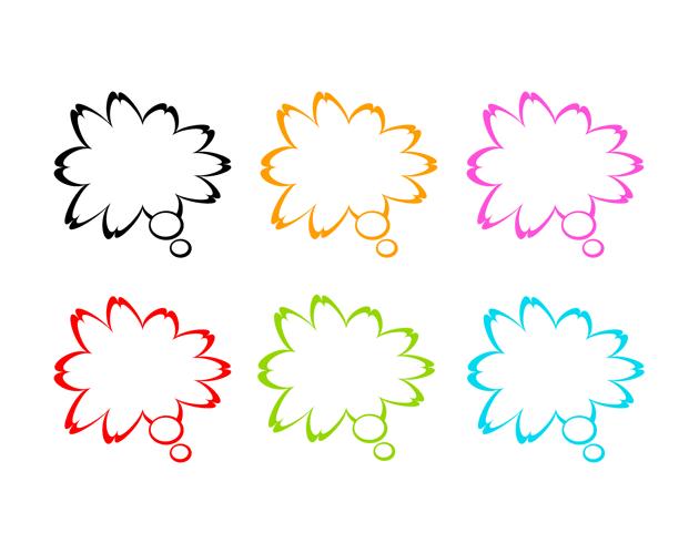 花びらの吹き出し(塗りなし)、フリー素材