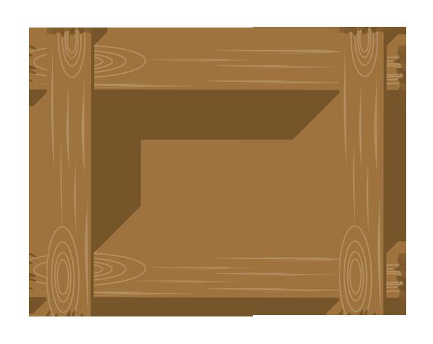 ポップな木板のフレーム枠