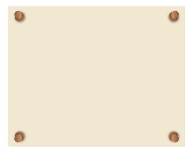 張り紙のシンプルなフレーム枠、フリー素材