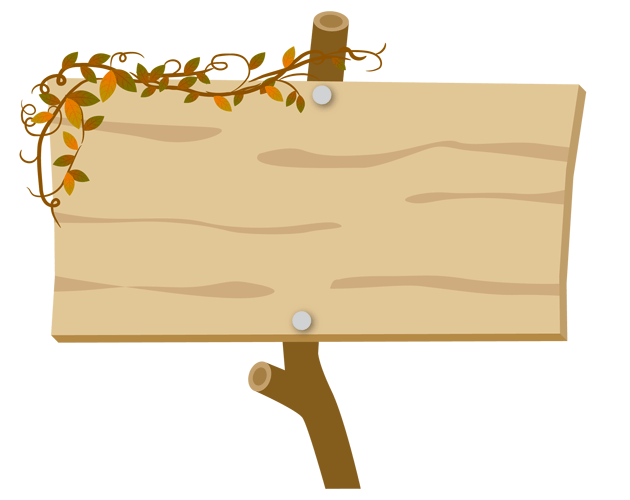 木の板の囲み枠イラスト