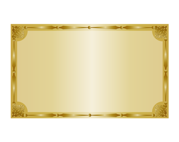 エレガントな金のフレーム枠、フリー素材