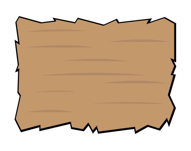 ポップな木の板のフレーム枠、フリー素材