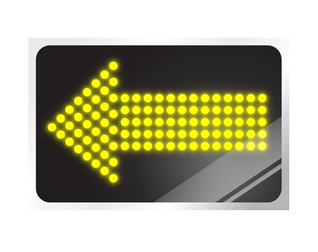 電光掲示板風の矢印イラスト