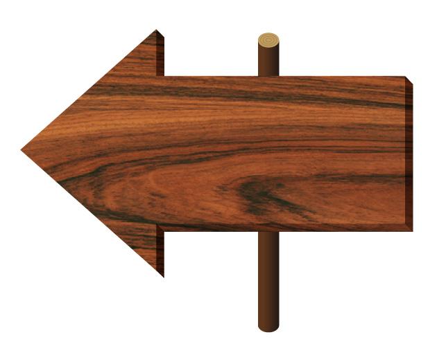木の板、看板矢印、フリー素材